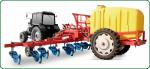 Подкормщики (аппликаторы) жидкими (КАС, ЖКУ) или сыпучими удобрениями, а также инжекторные агрегаты для корневых подкормок (ПЖУ-4000, 5000)